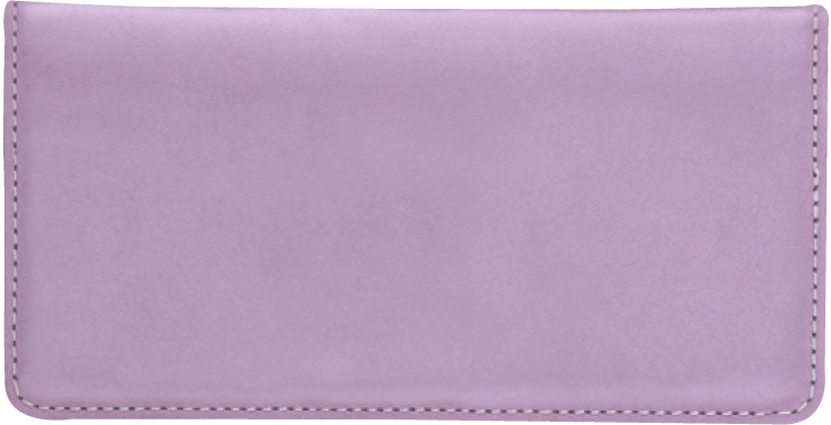 Lilac Checkbook Cover