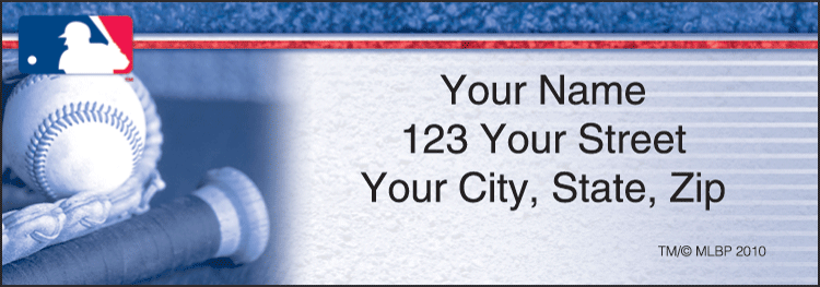 MLB Address Labels - click to preview