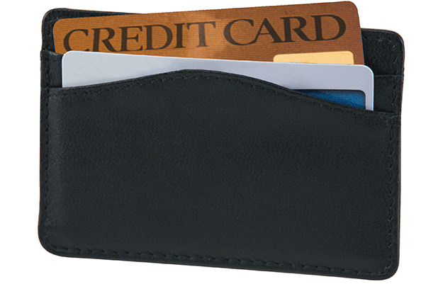 Black RFID Credit Card Sleeve - click to view larger image