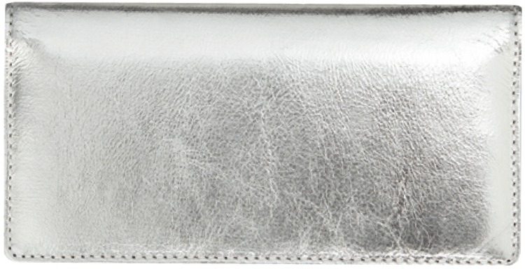 Silver Metallic Checkbook Cover