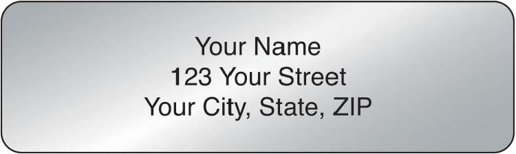 Silver Rolled Address Labels - 500 qty - click to view larger image