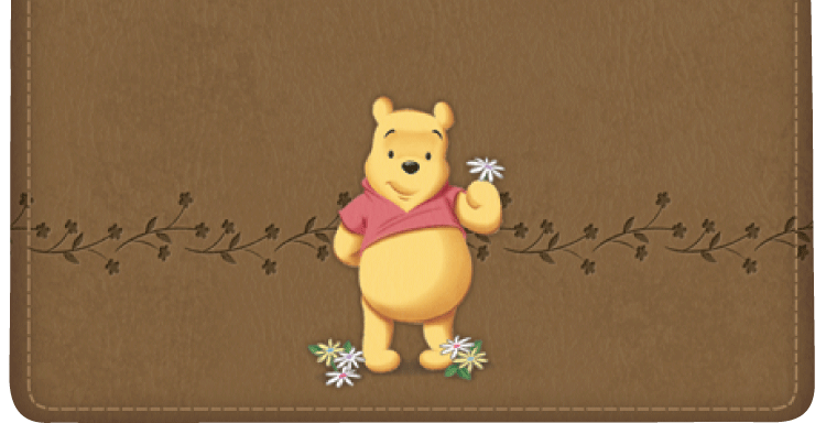 Winnie the Pooh Checkbook Cover - click to view larger image