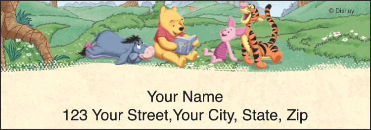 Winnie the Pooh Address Labels - click to view larger image