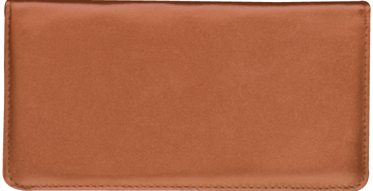 Tan Checkbook Cover
