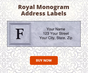 Royal Monogram Address Labels