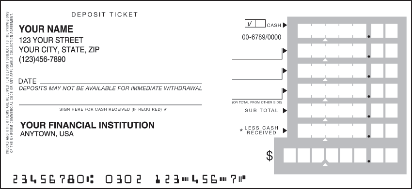 business deposit tickets slips and books. Black Bedroom Furniture Sets. Home Design Ideas