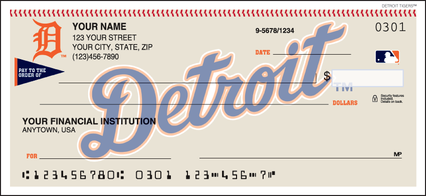 Detroit Tigers Recreation Personal Checks - 1 Box - Duplicates