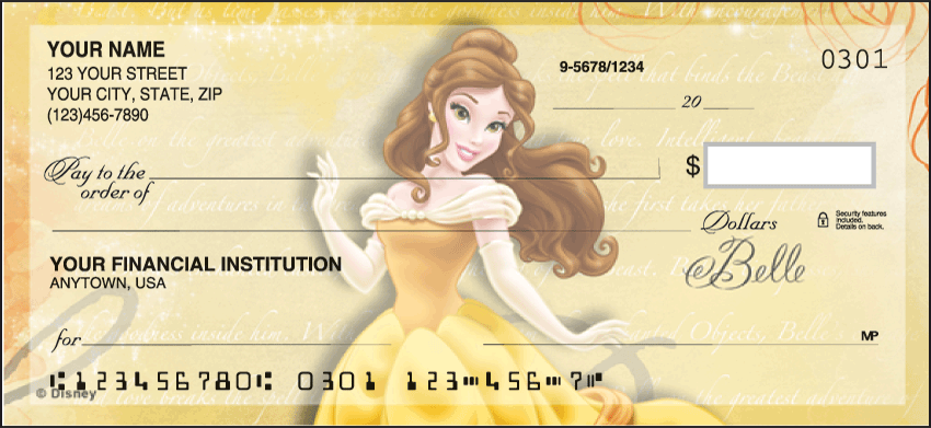 Disney Princess Disney Personal Checks - 1 Box - Duplicates