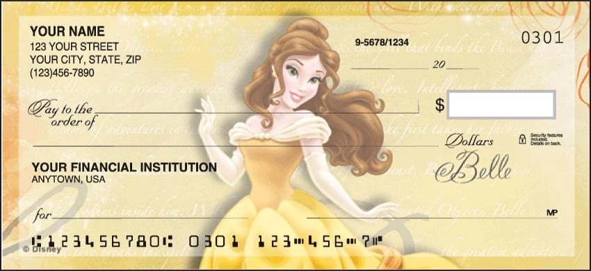 Disney Princess Disney Personal Checks - 1 Box - Duplicates