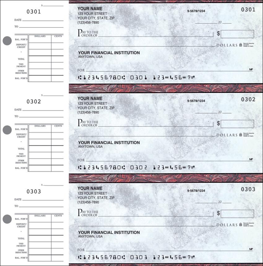 Executive Gray Desk Set Checks - 1 Box - Duplicates