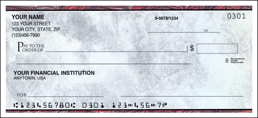 Executive Gray Side Tear Personal Checks - 1 Box - Duplicates