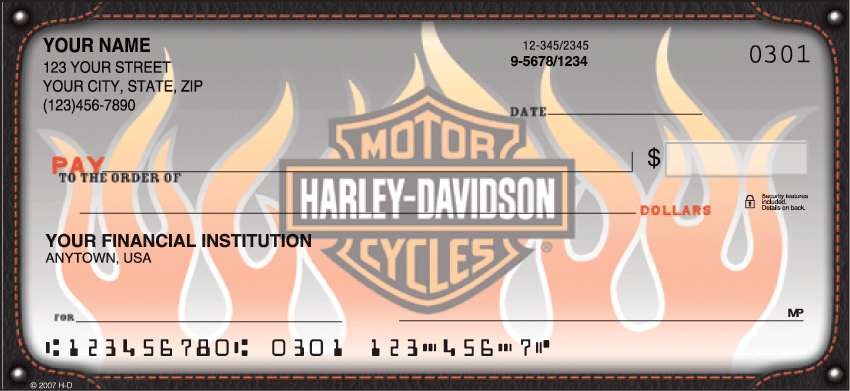 Harley-Davidson Live the Legend Recreation Personal Checks - 1 Box - Duplicates
