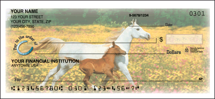 Horse Play Personal Checks - 1 Box - Singles