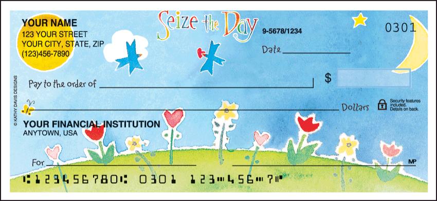 Inspirations by Kathy Davis Side Tear Personal Checks - 1 Box - Duplicates