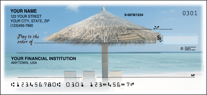 Island Escapes Scenic Personal Checks - 1 Box - Singles