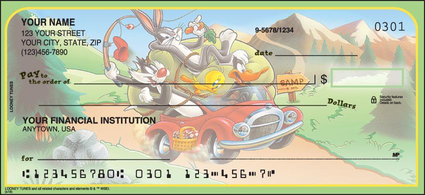 Looney Tunes Warner Bros Personal Checks - 1 Box - Duplicates