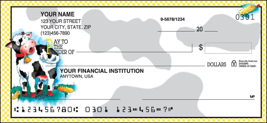 Moo Money Animal Personal Checks - 1 Box - Duplicates