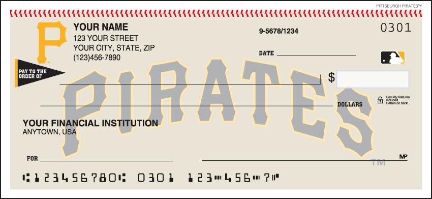 Pittsburgh Pirates Recreation Personal Checks - 1 Box - Duplicates