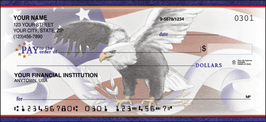 Pride in America Inspiration Personal Checks - 1 Box - Duplicates