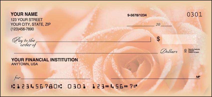 Roses Garden Personal Checks - 1 Box - Duplicates