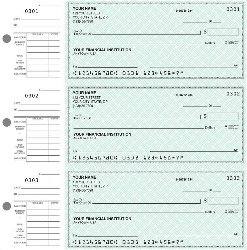 Safety Check Desk Set Checks - 1 Box - Duplicates