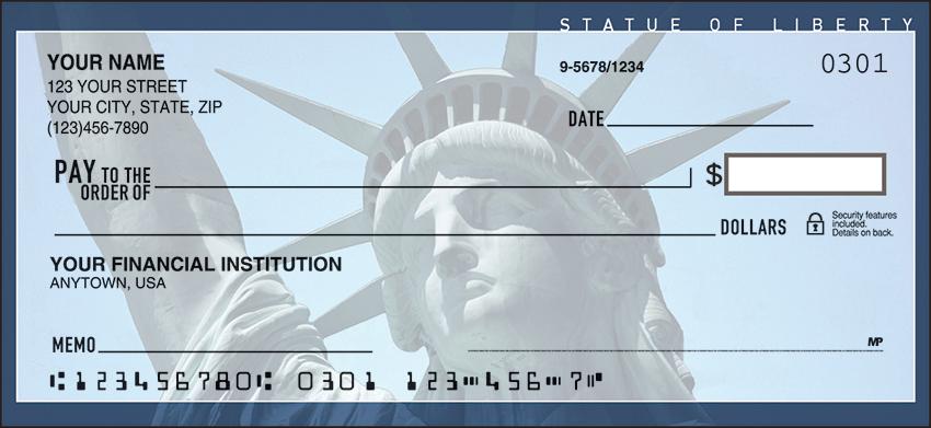 Scenic America Scenic Personal Checks - 1 Box - Duplicates