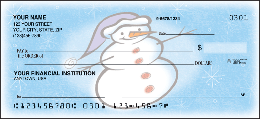 Snow Days Checks Personal Checks - 1 Box - Duplicates
