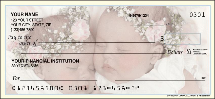Sweet Dreams Inspiration Personal Checks - 1 Box - Duplicates