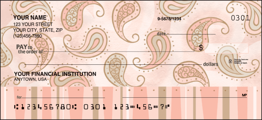 Swirls and Twirls Checks Personal Checks - 1 Box - Duplicates