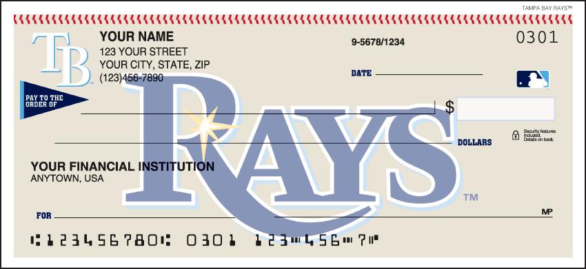 Tampa Bay Rays Recreation Personal Checks - 1 Box - Duplicates