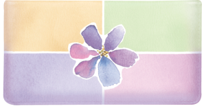 Kathy Davis Watercolors Side Tear Checkbook Cover – click to view product detail page